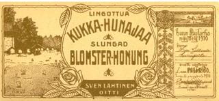 vanha hunajaetiketti