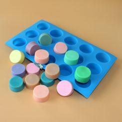 Saippuamuotti, silikoni, 15 osainen, n.20g-0