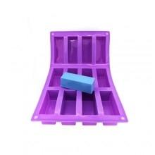 Saippuamuotti silikoni, 12-osainen suorakaide-0