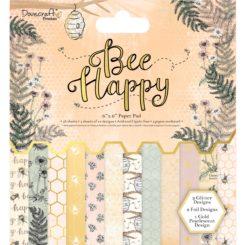 """Kuviopaperilehtiö 15 x 15 cm 150 g, 48 arkkia """"Bee Happy""""-0"""