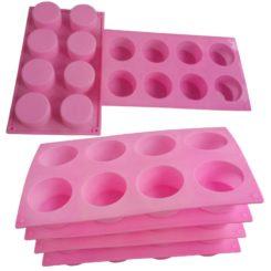 Saippuamuotti, silikoni, 8 osainen, pyöreä 5,5 cm x 3 cm-0